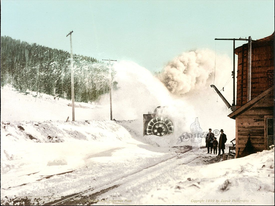 Snow Plow in the Colorado R.R., Hagerman Pass  Views from Detroit Photographic Co, 1898