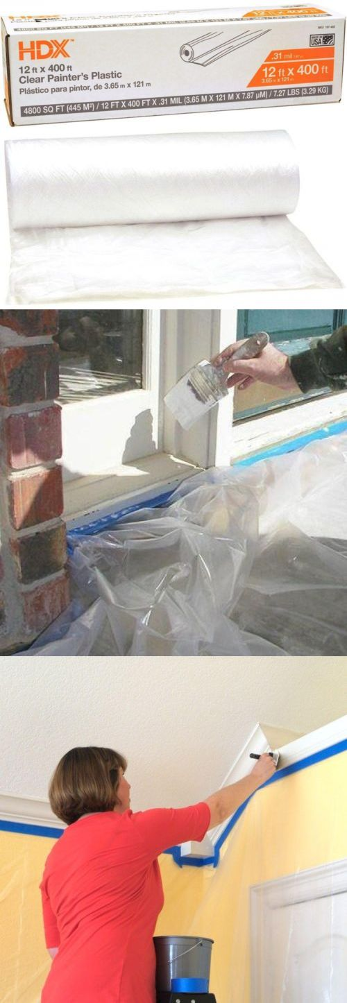 other home painting supplies painters plastic sheeting tarp painting spraying drop cloth 12 x