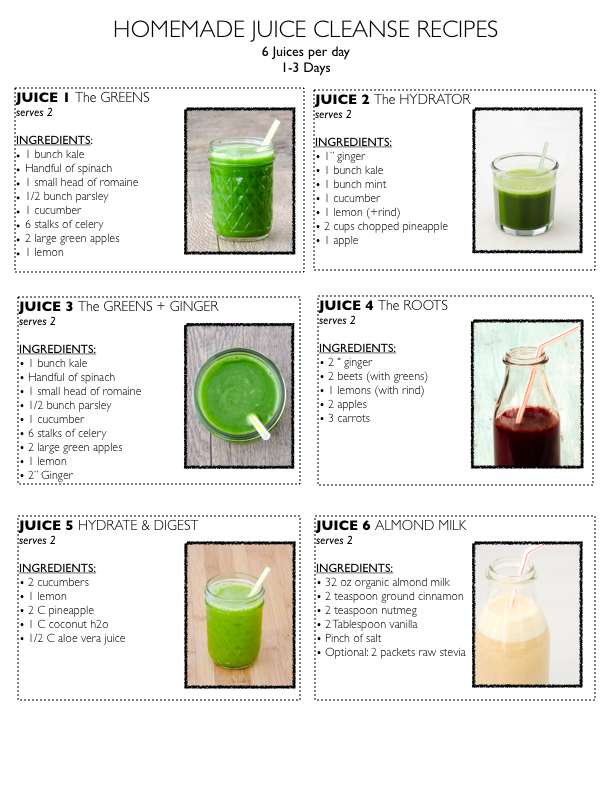 Homemade_Juice_Cleanse_Recipes.png 612×792 pixels Homemade Juice Cleanse, Juice Cleanse Recipes, Detox