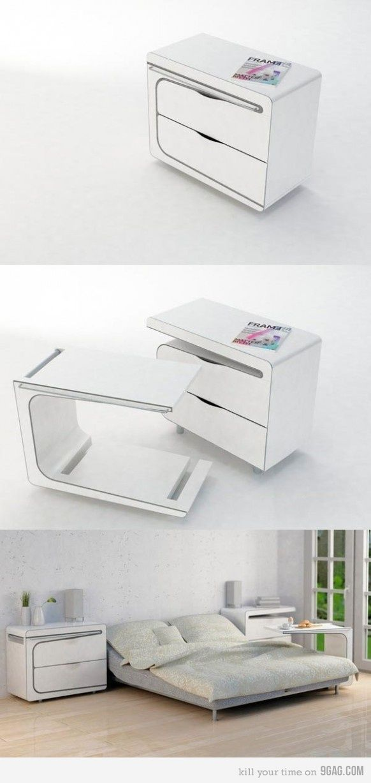 Smart Bedside Table: Furniture, Space Saving Furniture