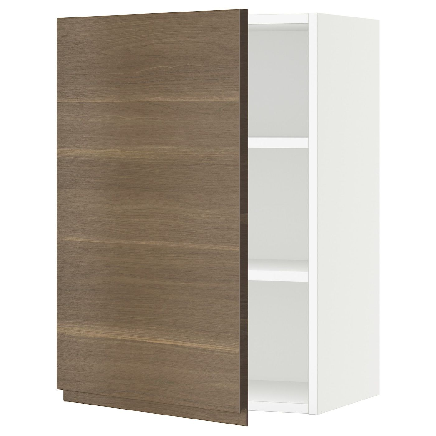 Sektion Wall Cabinet White Voxtorp Walnut Effect 21x15x30 In 2020 Ikea Wall Kitchen Installation