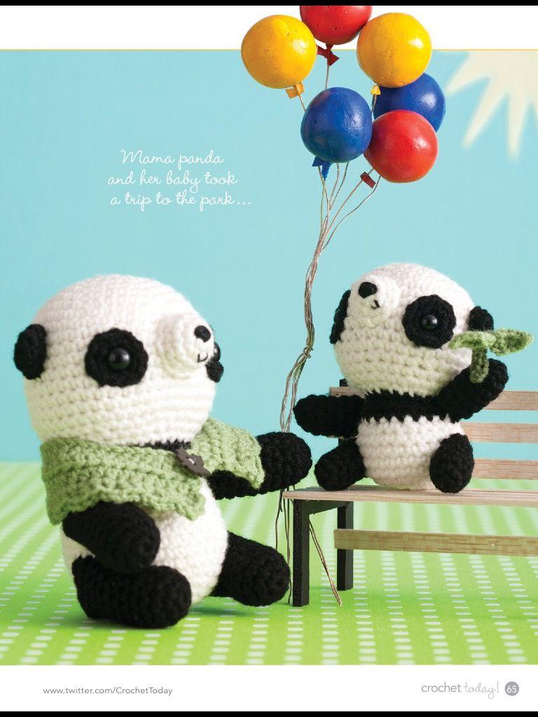 Mom and son panda bears, crochet today... | Amigurumi häkeln ...
