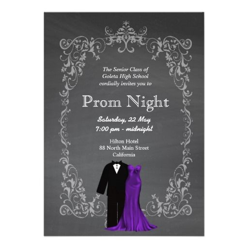 Sold this chalkboard prom invitation to ct stuff sold on frame your prom night memorabilia stopboris Image collections