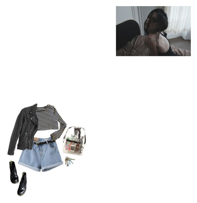 """""""Leather bomb"""" by fleur-noir ❤ liked on Polyvore featuring Zadig & Voltaire, American Rag Cie, *Accessories Boutique, stripes, Leather, Docs, leatherjacket and grunge"""