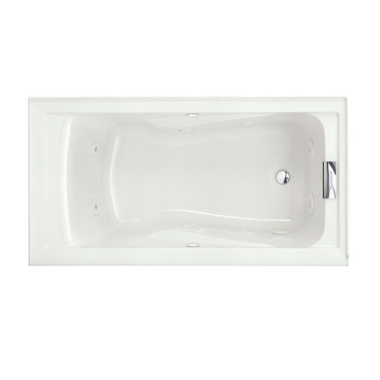 American Standard 2422v 418c 020 Evolution 60 L X 32 W Deep Soak Air Whirlpool Bathtub With Everclean Whirlpool Tub Whirlpool Bathtub Drop In Bathtub