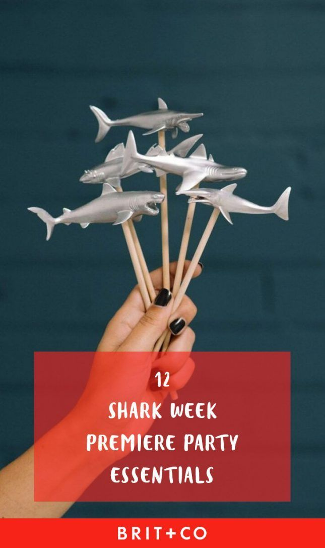 12 Essentials for Throwing a Fin-Tastic Shark Week Premiere Party #sharkweekfood Start prepping for Shark Week with these premiere party essentials. #sharkweekfood