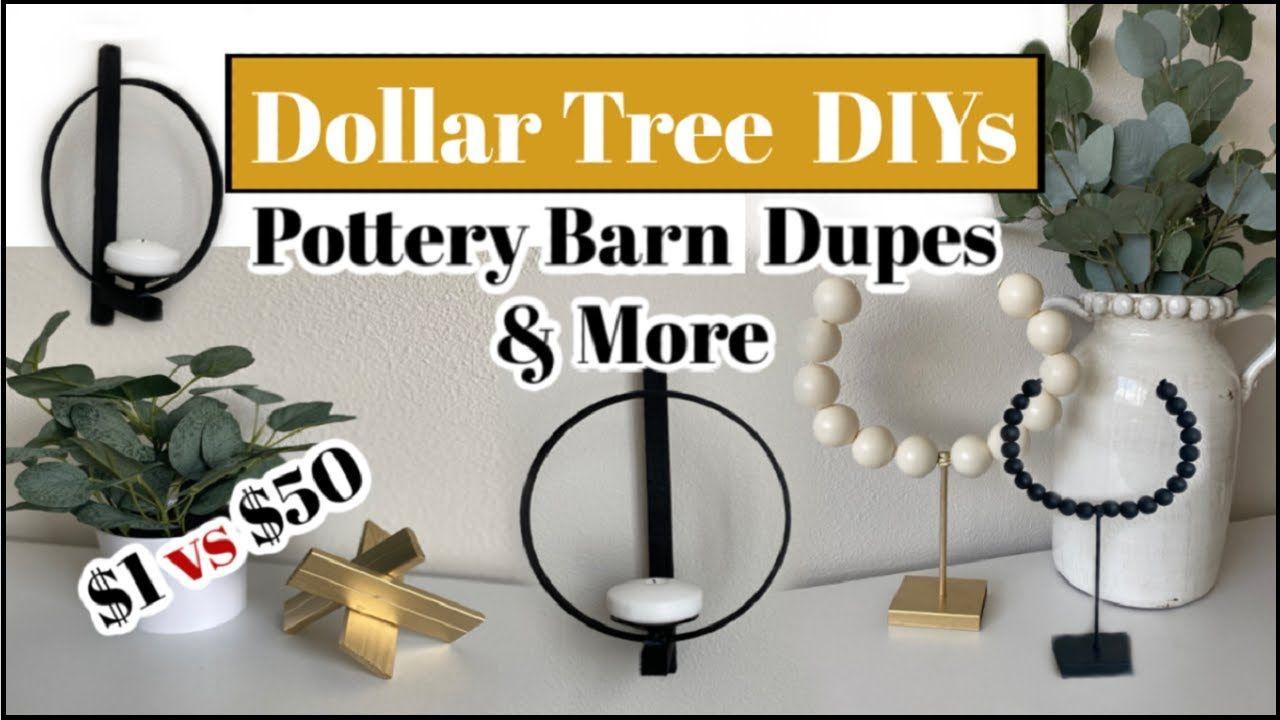Diy dollar tree home decor high end diys pottery barn