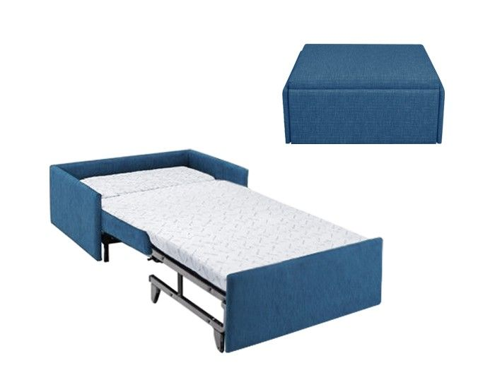 Zara ottoman bed folding bed tall people ottoman for Compact sleeper sofa