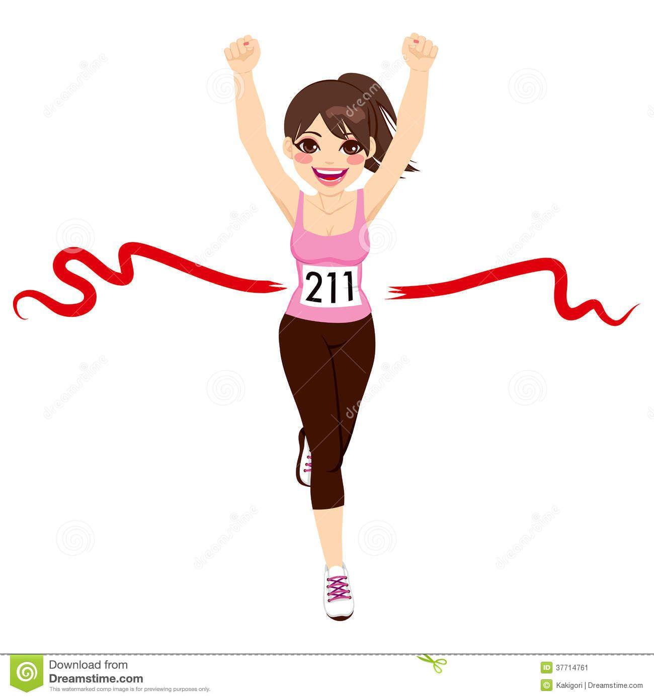 Clipart Race Marathon Finish Line - Google Ornaments Running Women Clip Art