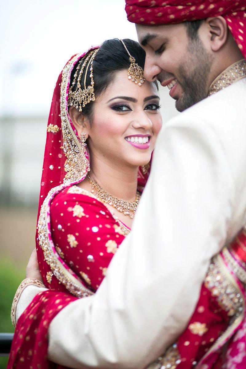Desi couple pakistani bride portrait pose