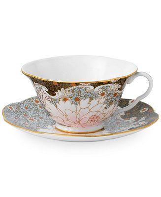 Wedgwood Daisy Tea Story Teacup and Saucer Set Blue - Fine China - Macy's