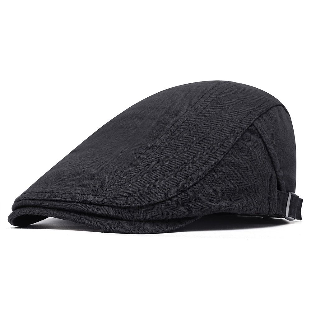 94011b7e US$10,04 - Men Cotton Solid Color Beret Cap Sunshade Casual Outdoors Peaked Forward  Cap Adjustable Hat