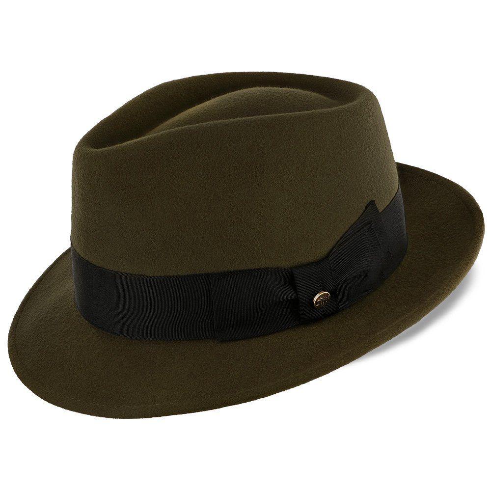 Compass - Walrus Hats Olive Diamond Crown Wool Felt Fedora Hat ... eb3311767a0b