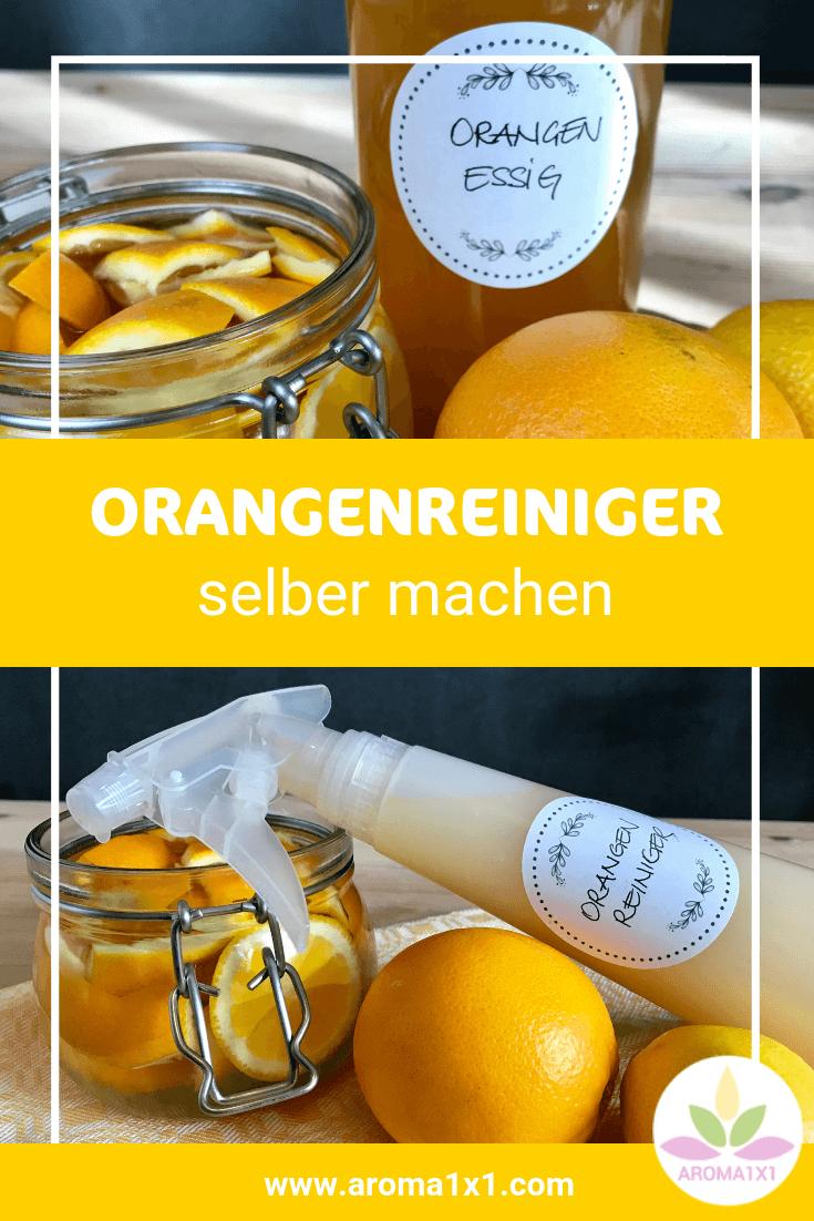 Deinen Orangenreiniger kannst du ganz selber machen. Du braucht dazu nur Orangenschalen-Reste, Essig und etwas Schmierseifenlösung. Damit kannst du alle deine Oberflächen auf 100% natürlich weise blitzblank und sauber halten. Für deinen grünen Haushalt ohne Chemie! #DIYputzmittel #putzmittlelselbemachen #DIY #orangenreiniger #DIYorangenreiniger #orangenessig #ätherischeöle #orangenöl