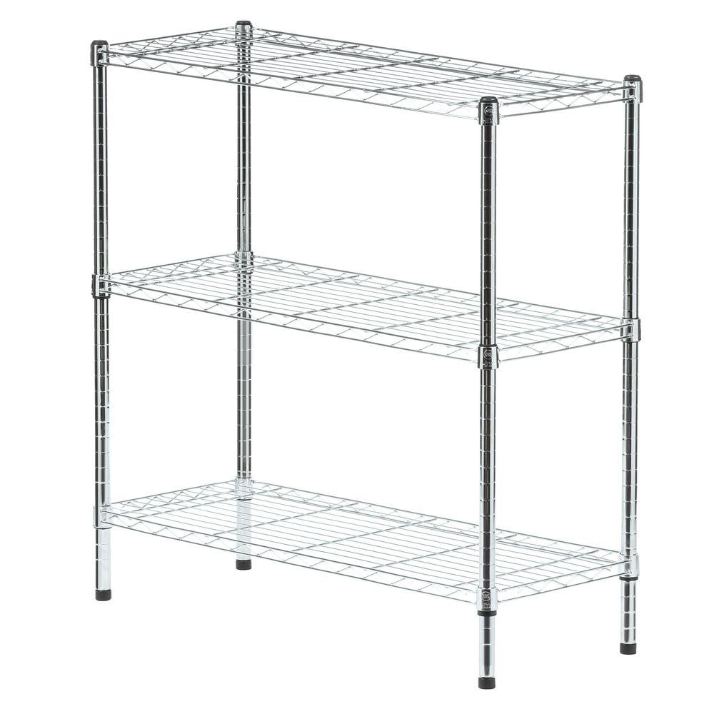 Wire Home Use Shelving Unit Grey