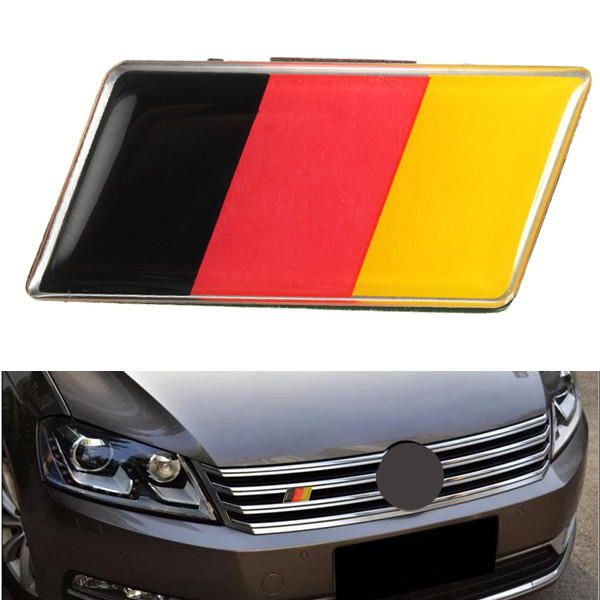 Metal Racing Car Sticker German Flag Emblem Grille Badge For BMW VW Benz Useful