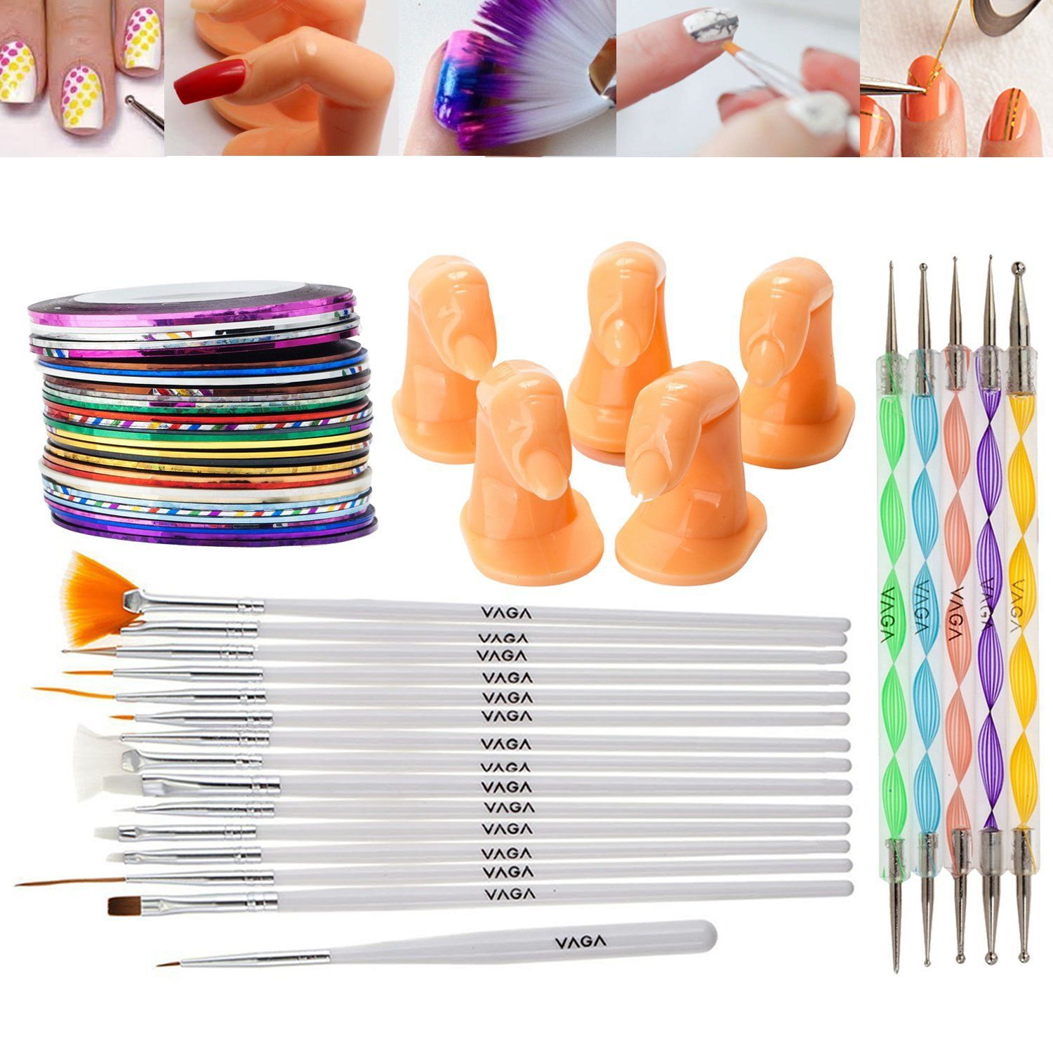 Best Deal Professional Nail Art Accessories Practice Set With 5 High