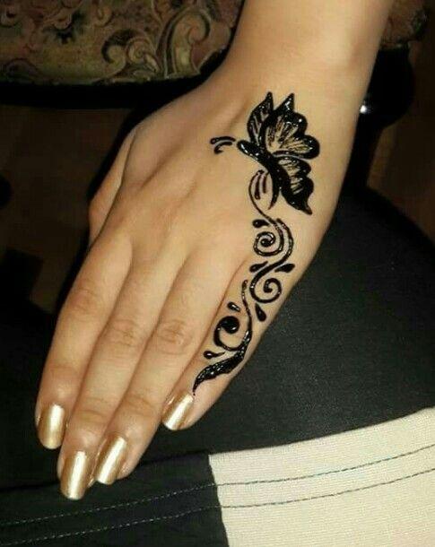 Cute Butterfly Beginner Henna Designs Mehndi Designs For Beginners Simple Henna Tattoo