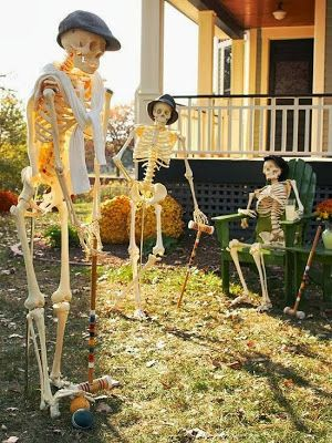 Time For The Holidays Funny Halloween Decorations in one page - yard decorations for halloween