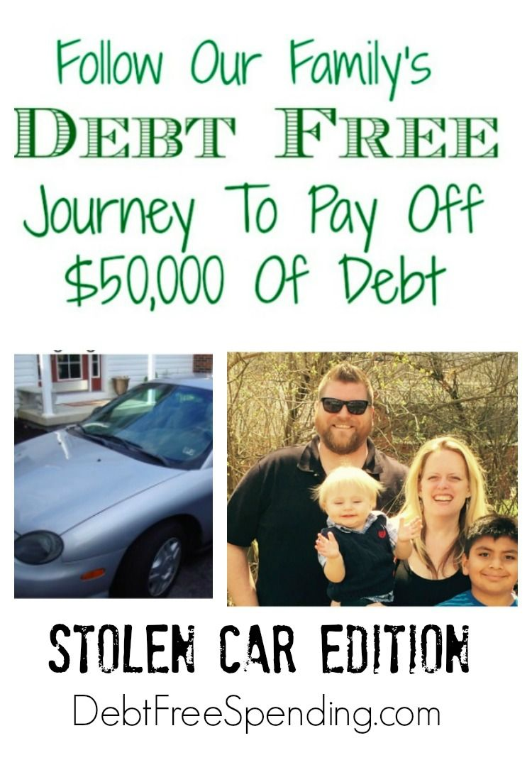 Debt payoff update for march 2016 stolen car edition