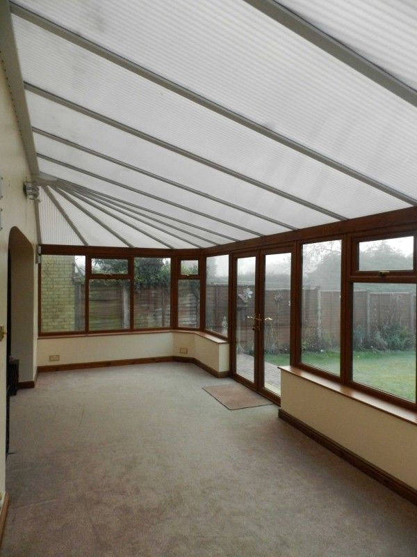 Internal View Of Open Plan Conservatory Before Guardian Tiled Roof Was Installed
