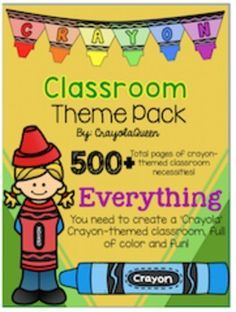 ***Please Make Sure You Can Open ZIP Files Before Downloading***This classroom MEGA pack features over 500 pages of 'Crayola' Crayon Themed resources needed to successfully set up your classroom in a fun and colorful crayon theme!This pack will be a great asset to any elementary classroom, however the workstation cards were created primarily for Kindergarten. *Indicates more information to followIncludes:ABC PostersTwo sets to choose fromBinder Covers (Editable)Buntings (Editable)Calendar…
