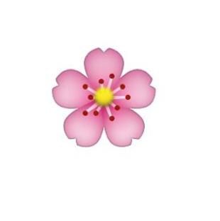 Cherry Blossem Emoji Transparent Flower Crafts Cherry Blossom Blossom