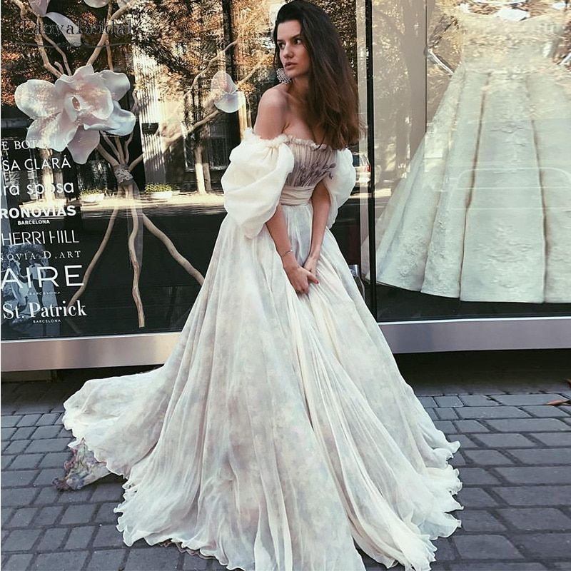 Find More Wedding Dresses Information about Puff Sleeve