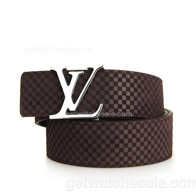 cd9558336794 Louis Vuitton Men s Damier Calfskin Leather Belt