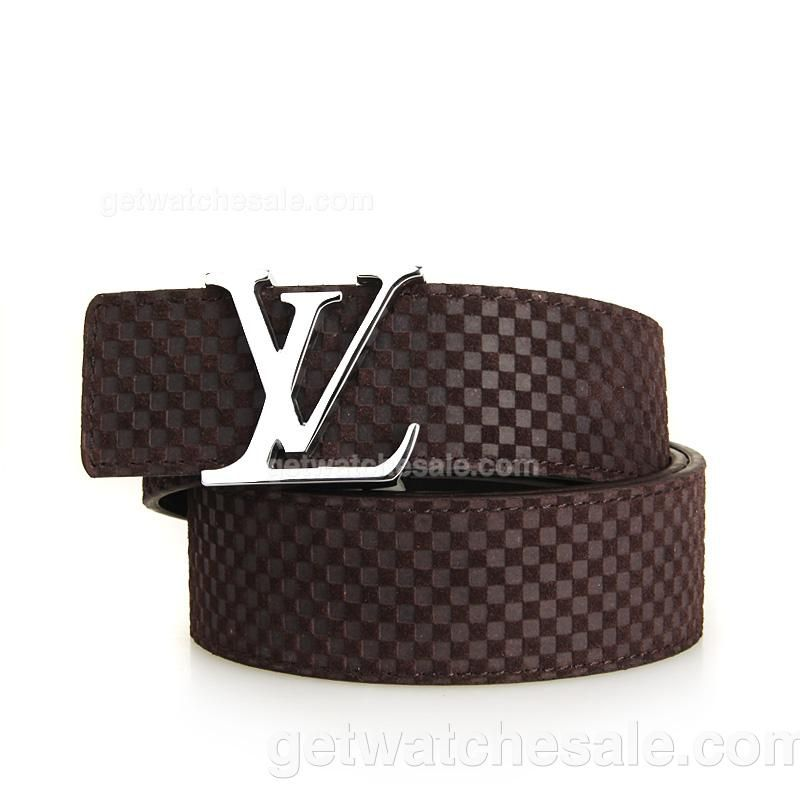 Louis Vuitton Men's Damier Calfskin Leather Belt , Polished