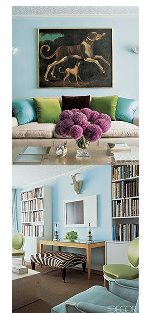 Blue Gray Paint Color To Go With Chartreuse