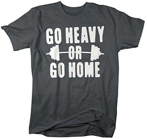 b9aa3a482b7f7 Shirts By Sarah Men s Go Heavy Or Go Home T-Shirt Lifting Shirts
