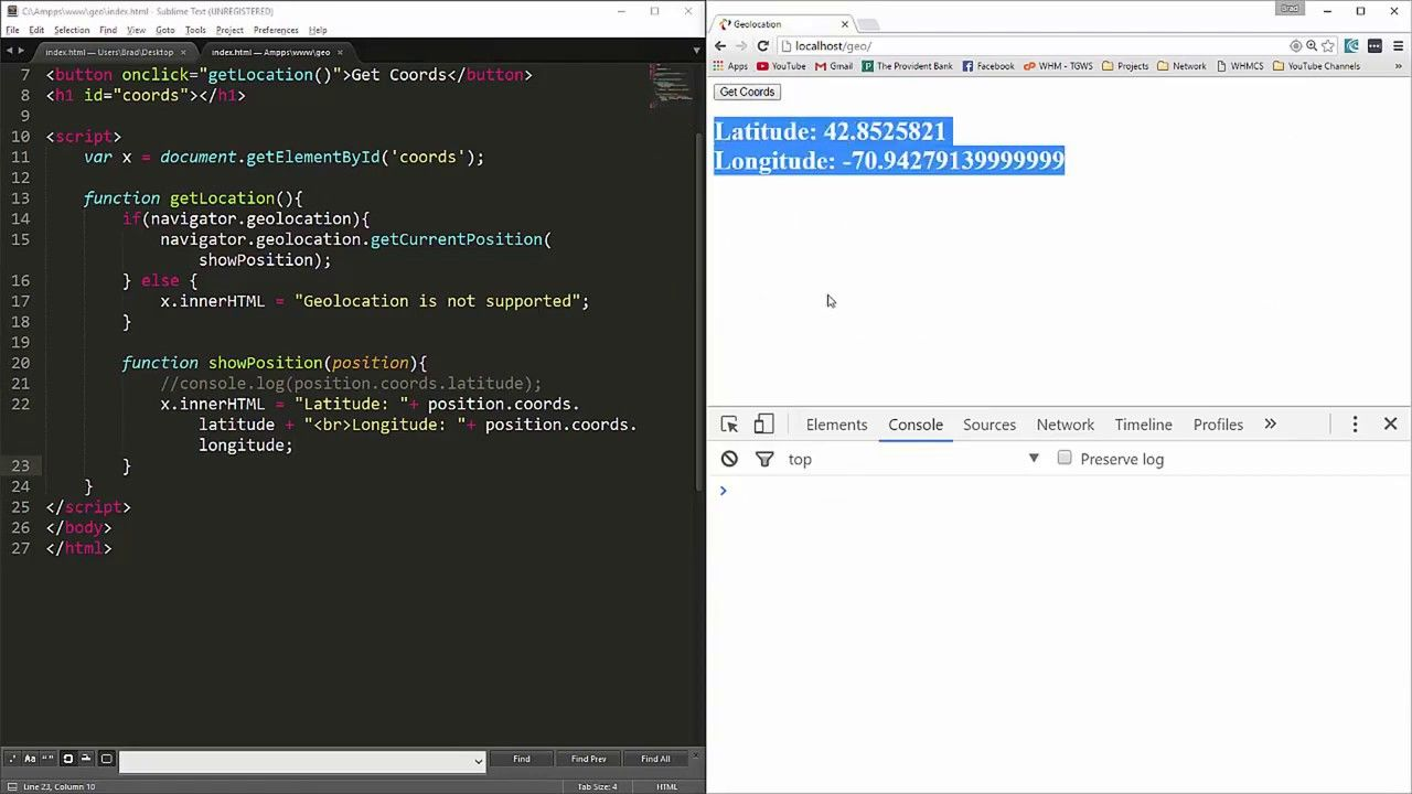 Geolocation In Html5 Learn Html5 Web Development Full Course Tech Inam Https Youtu Be 5ur0r0p2vbg Web Development Html Tutorial Geolocation