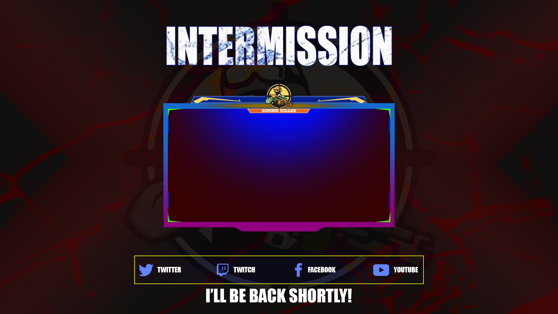 Design gaming twitch overlay, logo and screen for streamers
