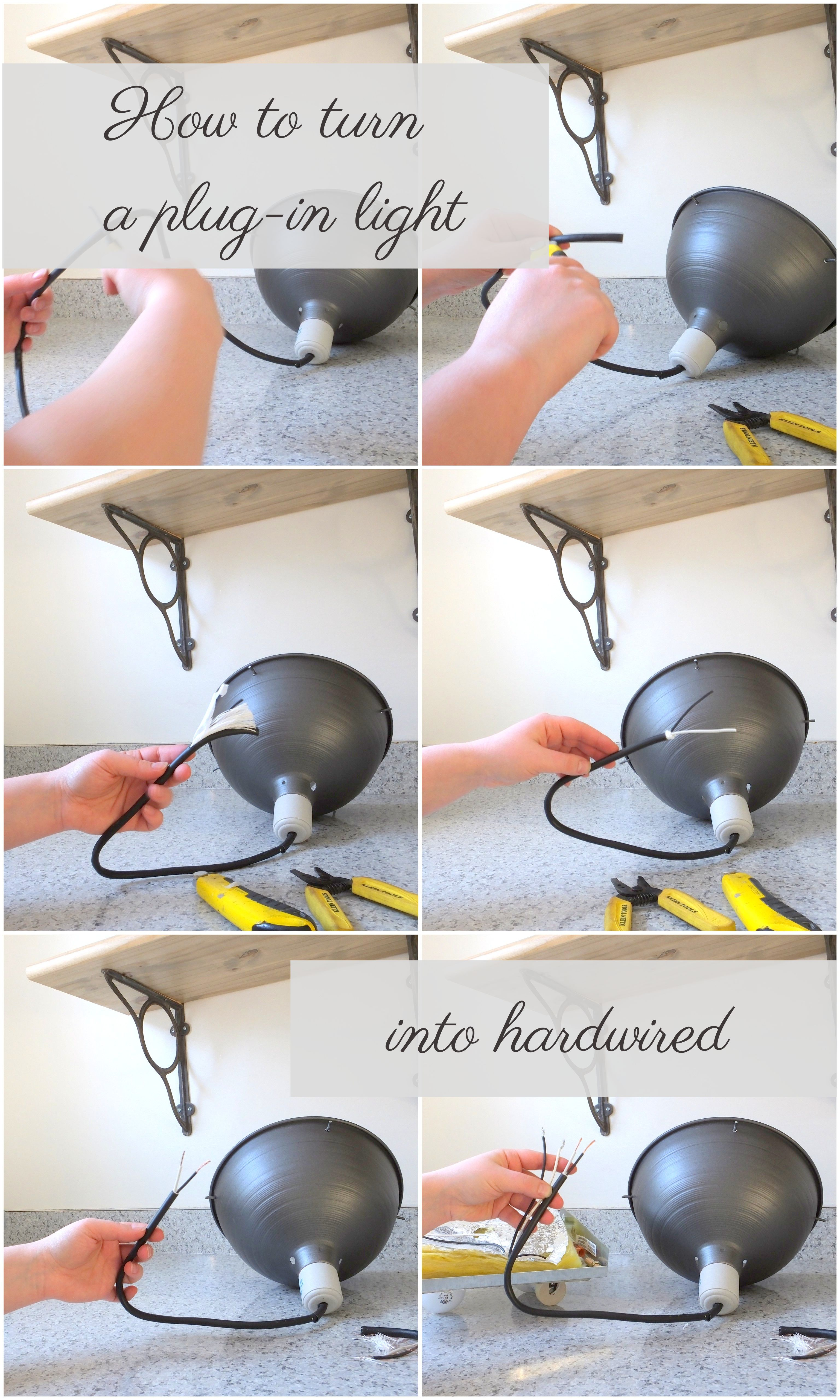 How To Turn A Plug In Light Into Ceiling It S