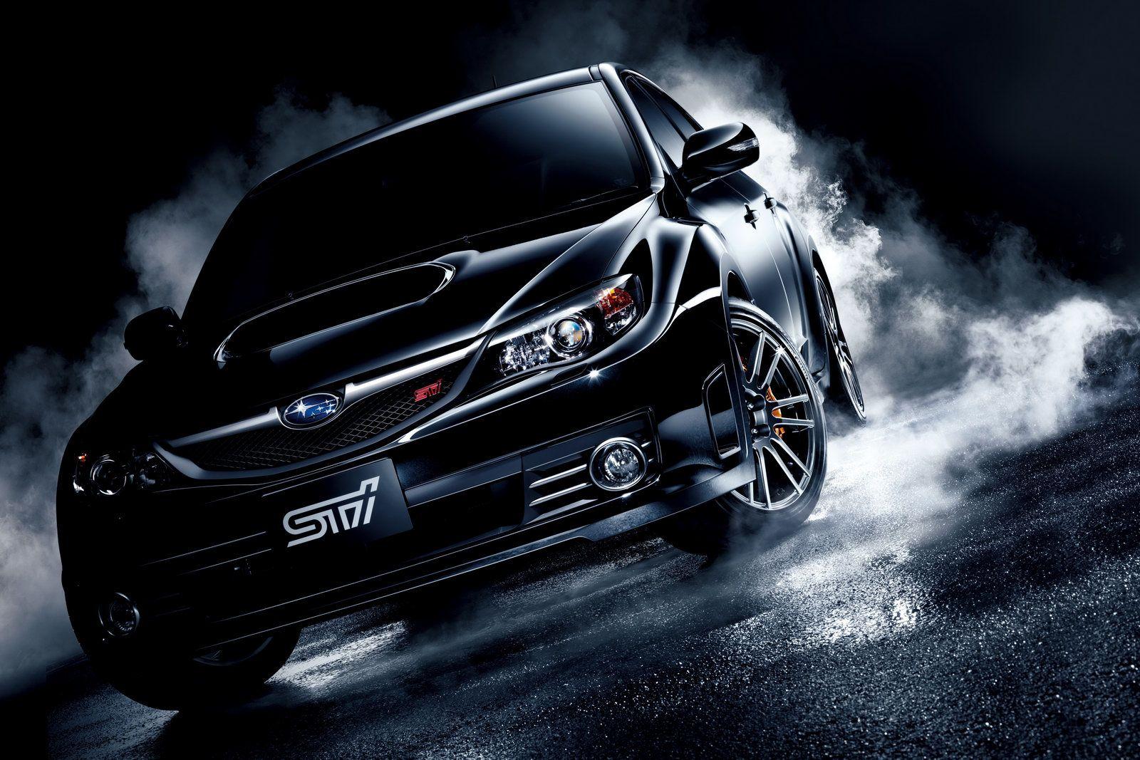 Black Glamorous Car With Smoke In Dark Night Hd Wallpaper Night