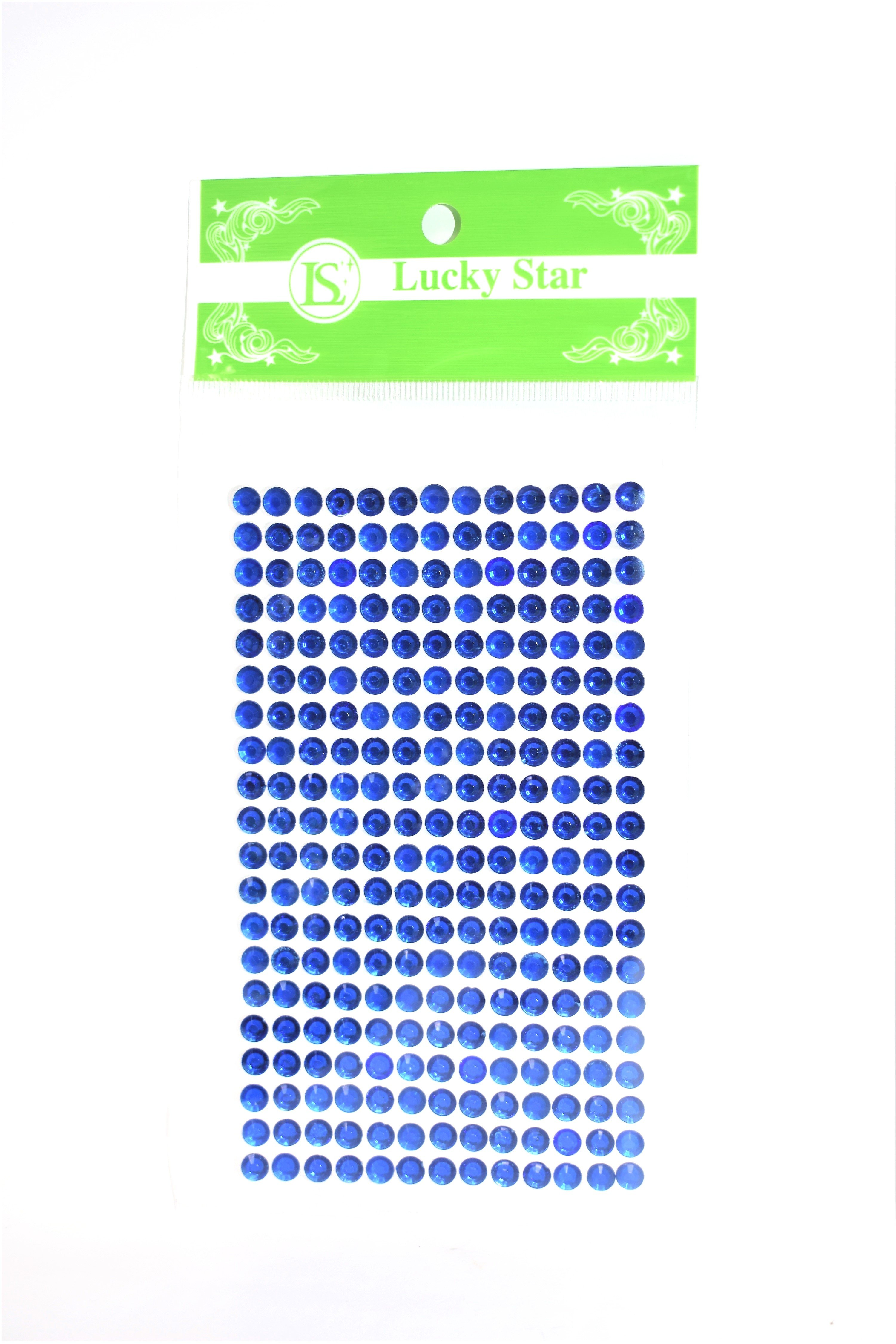 9ee360c253 Acrylic Circle Rhinestone Stickers, Royal Blue Color, 20 Strips x 13 ...