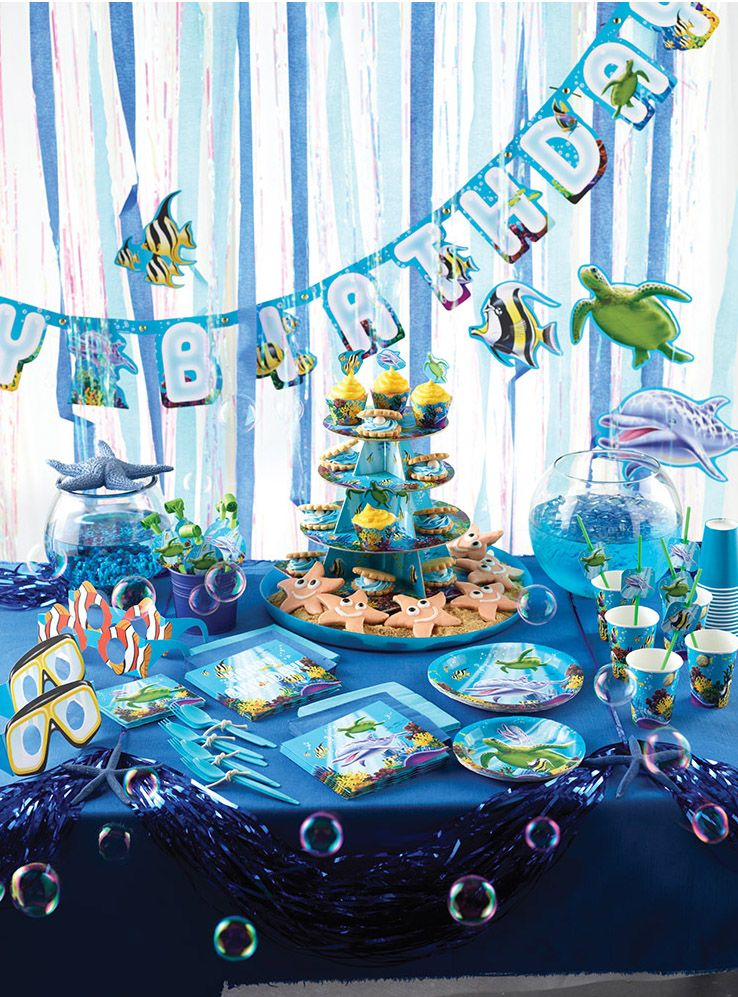 Pin By Dan On Party Supplies Available Now From Its All About Kids Ocean Theme Party Ocean Birthday Party Ocean Birthday