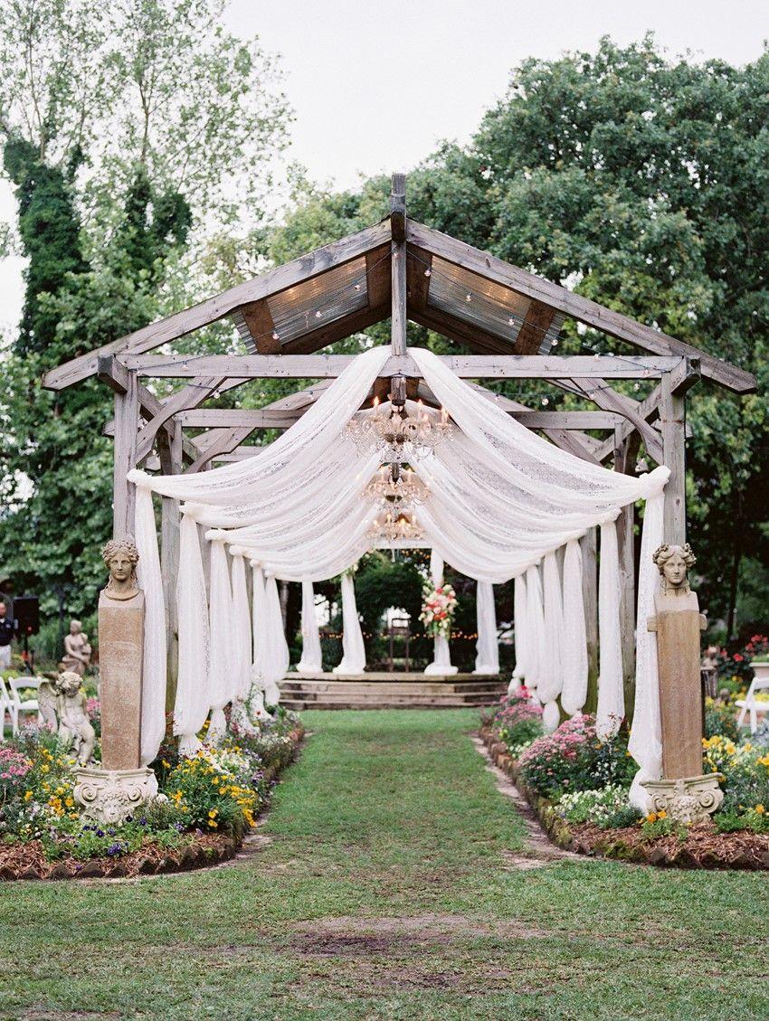 A Bright & Beautiful Boho-Vintage Garden Wedding