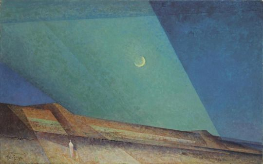 Lyonel Feininger, Dunes in the Evening, 1937