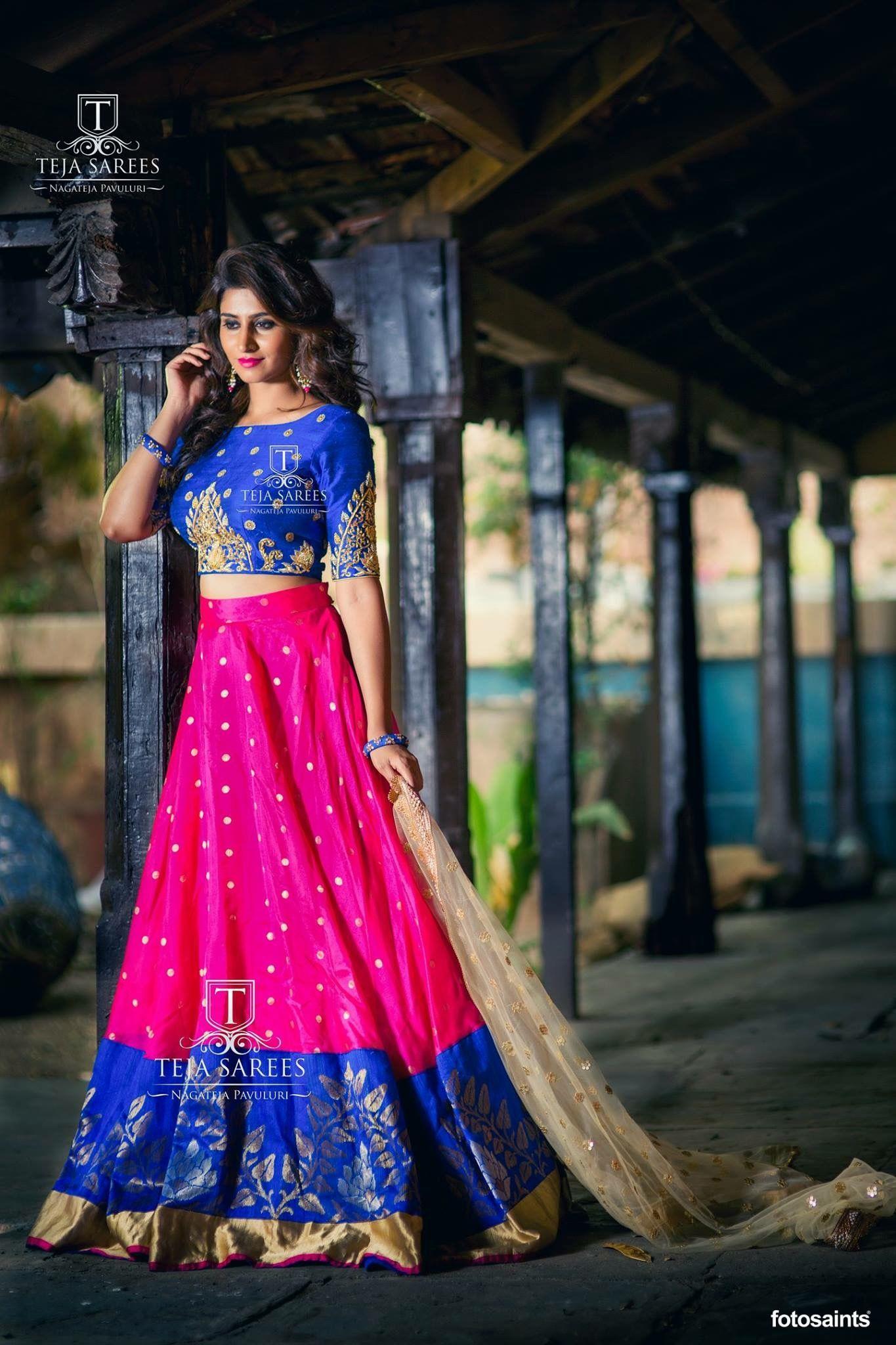 8dfed16f3d4bef Pin by Madhavi Achanta on half sarees