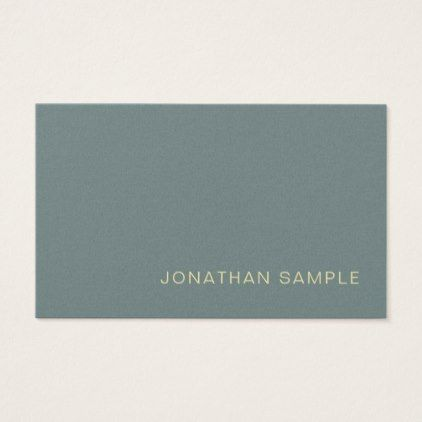 Modern Professional Creative Pearl Finish Deluxe Business Card   Modern  Gifts Cyo Gift Ideas Personalize
