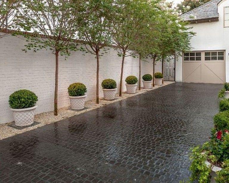 35 Beautiful Modern Outdoor Landscape Design Ideas Driveway Landscaping Outdoor Landscape Design Gravel Driveway Landscaping