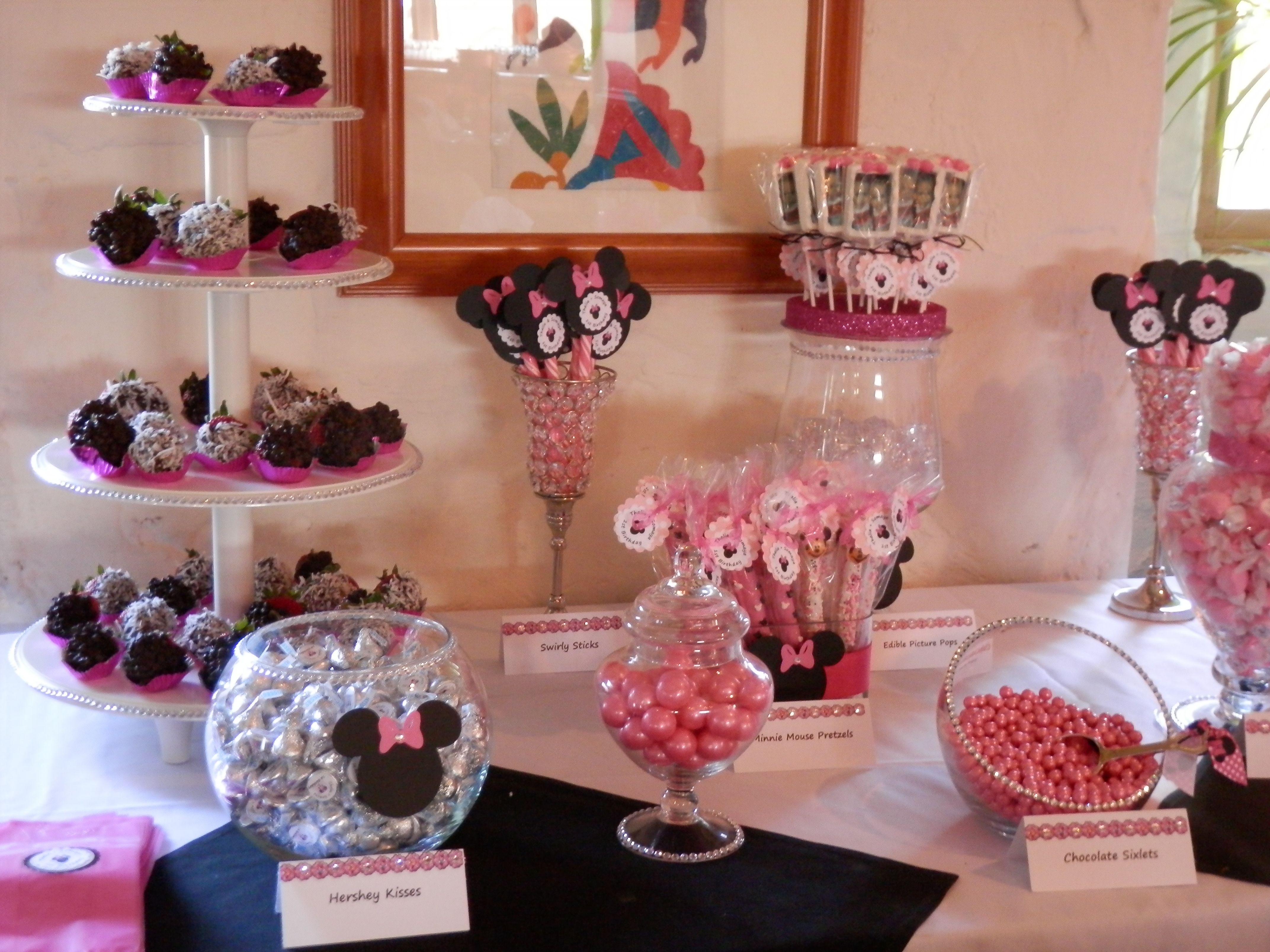 Minnie Mouse Candy Table Minnie Mouse Theme Party Minnie Mouse Birthday Party Minnie Mouse Theme