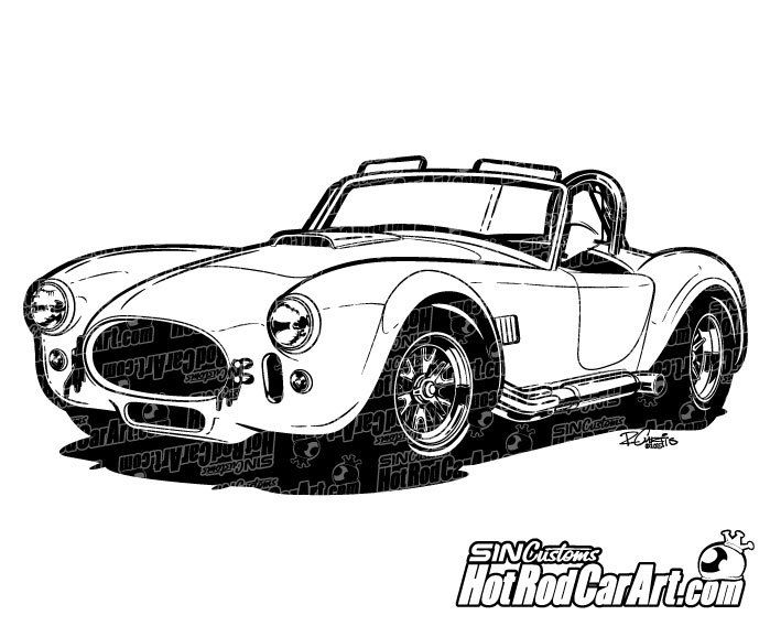 1967 Shelby Cobra Clip Art 1967 Shelby Cobra Art Cars Car