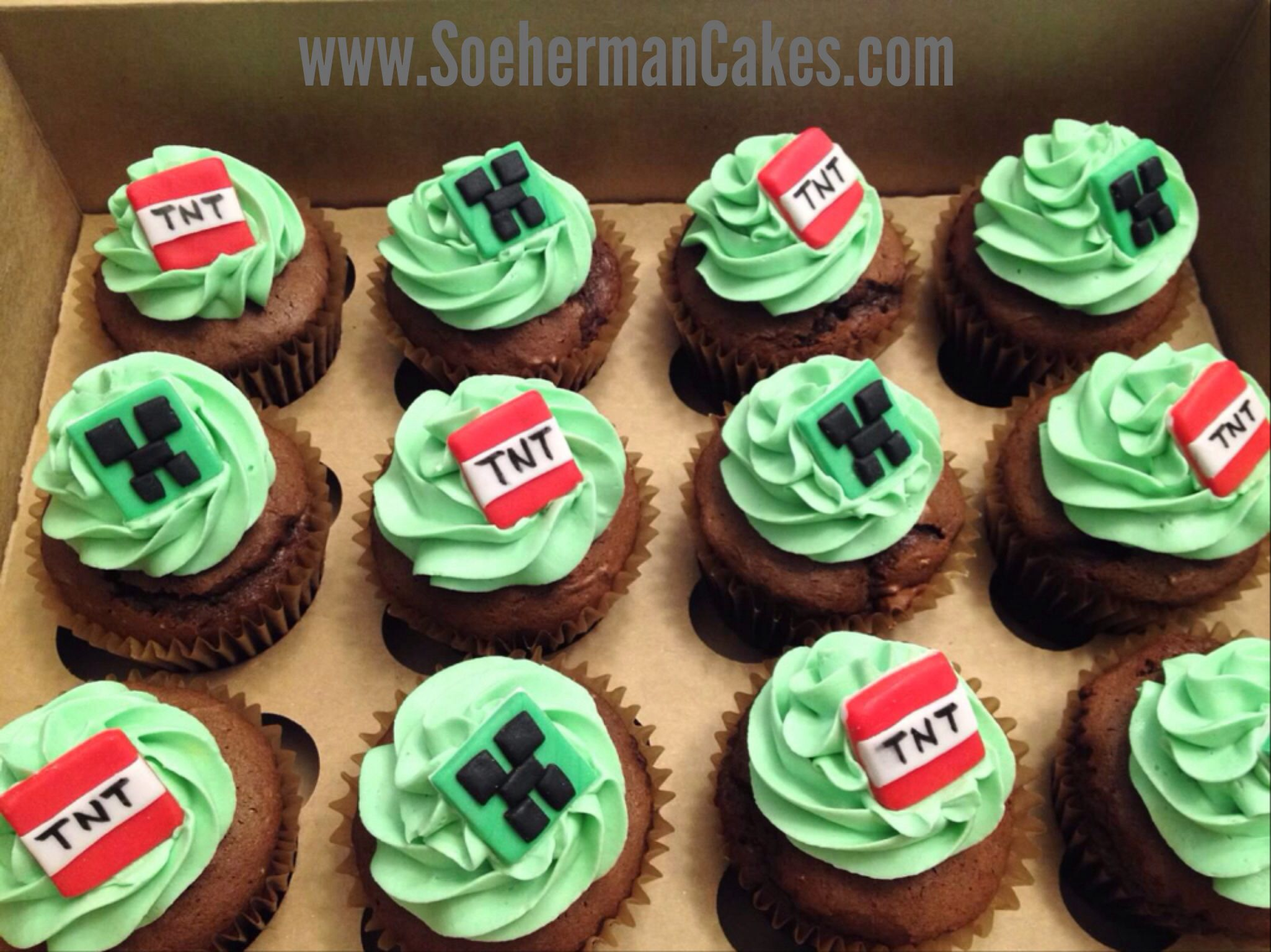 Minecrafts cupcake | Cupcakes | Pinterest | Birthdays ...