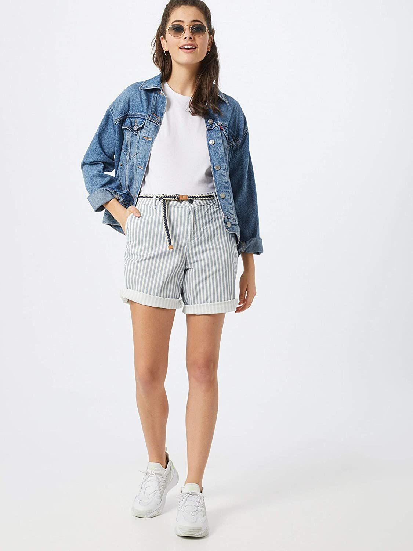 Esprit Pantalones Cortos Para Mujer Pantalones Cortos Para Mujer Ropa Pantalones Cortos