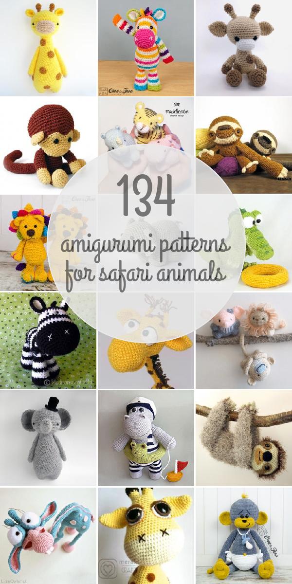 Amigurumi Patterns / #Patrones -For Safari Animals - #Animales ...