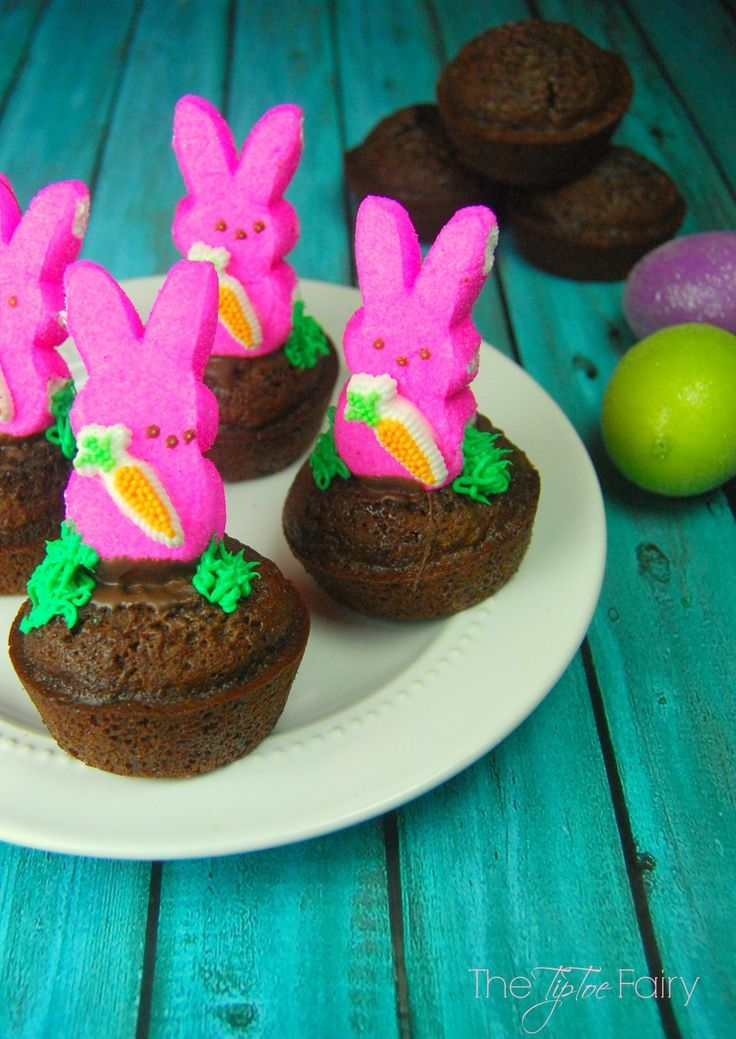 Easy PEEPS®️️ Bunny Brownies - perfect for Easter dessert or treat!