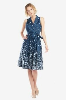 Polka Dot Shirt Dress by Anne Klein